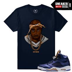 Bronze 5 Jordan Tupac T shirt