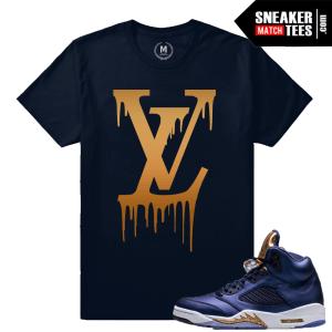 Bronze 5 Sneaker Tee Match Jordan 5 shirts