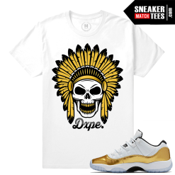Jordan 11 Gold Low T shirt Match