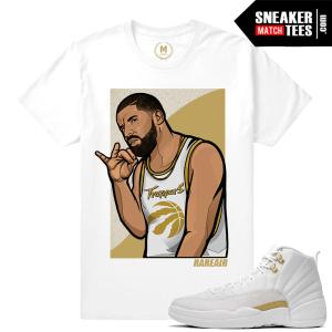 Jordan 12 OVO T shirt Drake