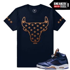 Jordan 5 Bronze Matching T shirt