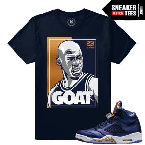 Jordan 5 Bronze t shirt Match Sneaker