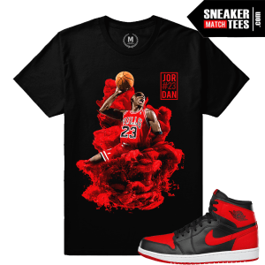 Jordan t shirt Match Banned 1s
