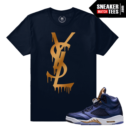 Retro Jordan 5 Bronze Matching T shirt