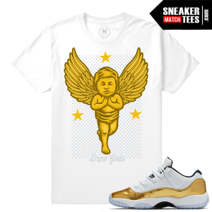 Shirt matching Gold 11 lows sneakers