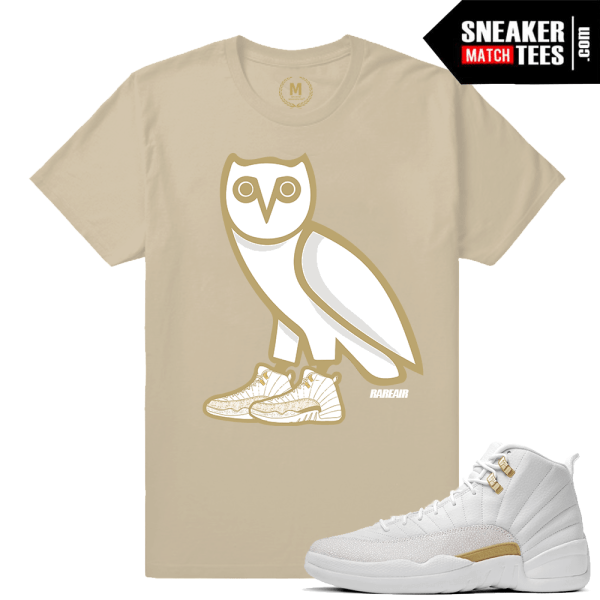 079dba371ade Match Jordan OVO 12 Black Wise Owl Black T-shirt Match OVO 12 Jordan Retro  Dxpe Gods Gold Floral White ...