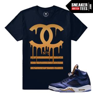 T shirt Matching Retro 5 Bronze Jordan