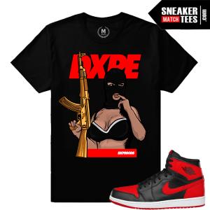 T shirts match Banned 1 Retro Air Jordans