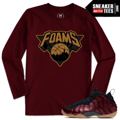 Foams Maroon T shirt Match
