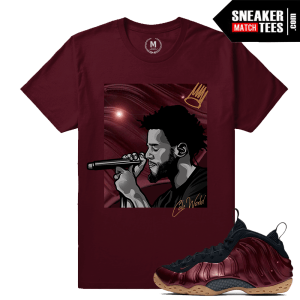 J Cole T shirt Match Maroon Foams