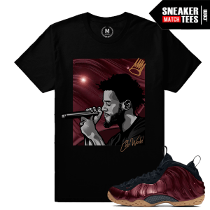 JCole T shirt Matching Maroon Foams