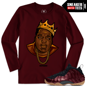 Maroon Foams Sneaker Tees Match