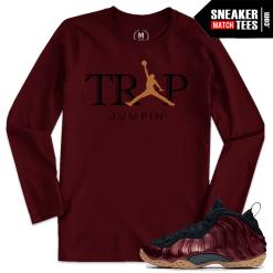 Maroon Foamposite Sneaker Tees Match
