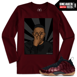 Nike Foams Maroon Match T shirt