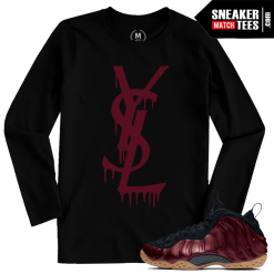 Shirt Match Maroon Foams Sneakers