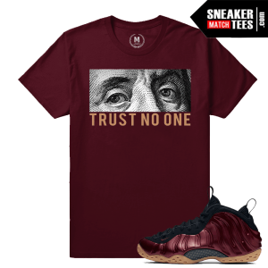 Sneaker Tee Shirt Match Maroon Foams