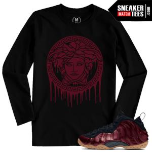 Sneaker shirts Maroon Foamposite