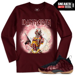 T shirts Matching Night Maroon Foams Iron Maiden