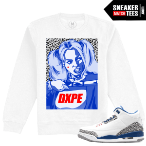 Air Jordan 3 True Blue Matching Crewneck Clothing