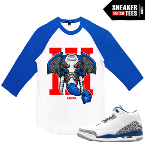 Air Jordan 3 True Blue Raglan T shirt