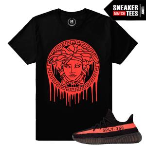 Black Red Yeezy Boost 350 Match T shirt