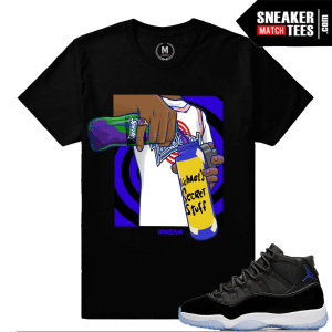 Jordan 11 Space Jam Matching Sneaker Tees Shirts