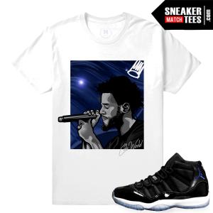 Jordan 11 Space Jam T shirt Matching