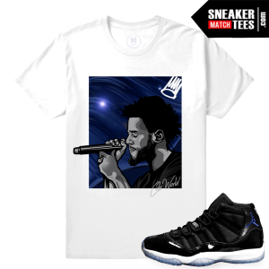 Jordan 11 Space Jam T shirt Matching