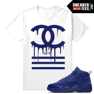 Jordan 12 Blue Sneaker Matching Tee shirt