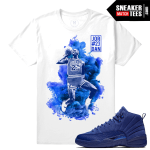 Jordan 12 Blue Suede Matching T shirt