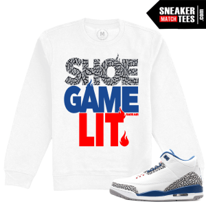 Jordan 3 True Blue Crewneck Sweatshirt