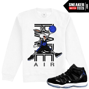 Match Space Jam 11s Crewneck Sweatshirt