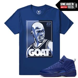 Shirts match Jordan 12 Blue Suede