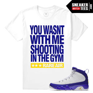 Sneaker Match Tees Jordan 9 Kobe Tour Yellow