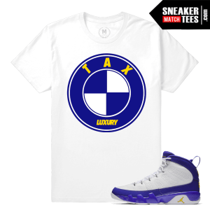 Sneaker Tees Match Jordan 9 Tour Yellow Shirt