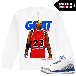 True Blue Jordan 3s Crewneck