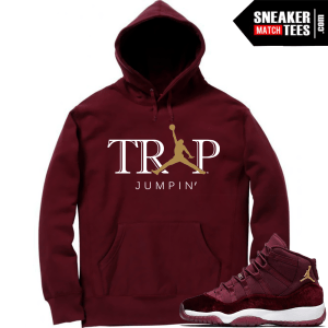 Jordan 11 Velvet Night Maroon Shirts to Match Sneakers