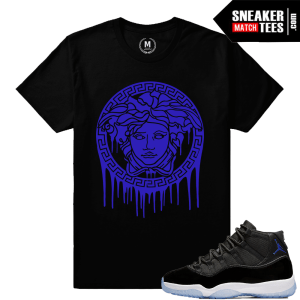 Jordan 11 Space Jam Matching Concord Purple Shirt