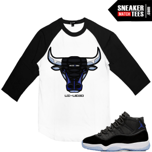 Jordan 11 Space Jam Matching Raglan Shirt