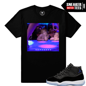Jordan 11 Space Jams T shirt Matching