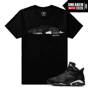 Jordan 6 Black Cat T shirt Matching