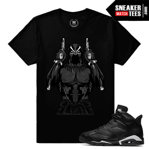 Match Jordan 6 Black Cat T shirts
