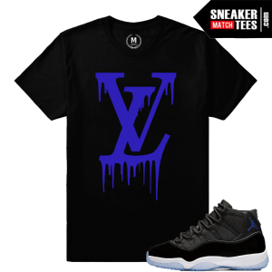 Sneaker Tee Shirt Match Jordan 11 Space Jam