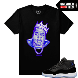 Sneaker Tee Shirts Match Space Jam 11s