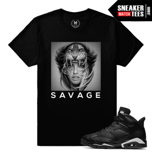 Sneaker Tees Matching Jordan 6 Black Cat