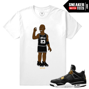 Jordan 4 Royalty T shirt Matching Sneaker