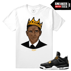 Match Royalty 4s Retro Air Jordan T shirt