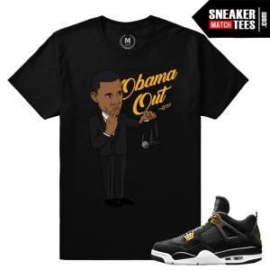 Matching Jordan 4 T shirt Obama