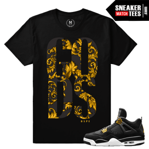 Sneaker Match Shirt Jordan 4 Royalty