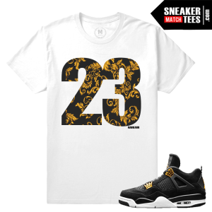 Sneaker Match Tees Jordan 4 Royalty